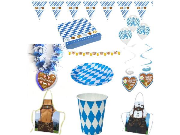 oktoberfest deko bayern party blau wei motto. Black Bedroom Furniture Sets. Home Design Ideas