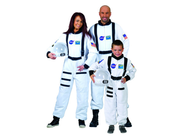 kinder astronauten overall weiss astronaut weltall kost m fasching ebay. Black Bedroom Furniture Sets. Home Design Ideas