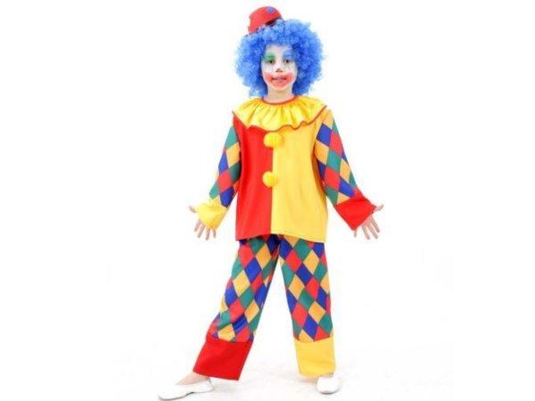 kinderkost m clown chico gr 98 164 karneval kost m clownkost m kinder ebay. Black Bedroom Furniture Sets. Home Design Ideas