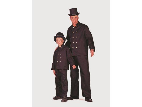 schornsteinfeger kinder kind kost m kaminfeger kaminkehrer gr 116 karneval 2182 ebay. Black Bedroom Furniture Sets. Home Design Ideas