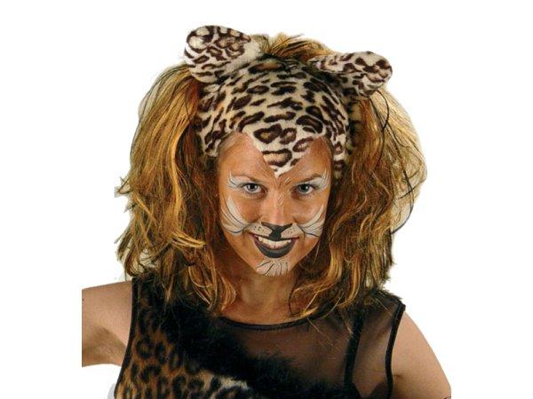 cats per cke mit ohren katze leopard katzenohren k tzchen tiger fasching 1146 ebay. Black Bedroom Furniture Sets. Home Design Ideas