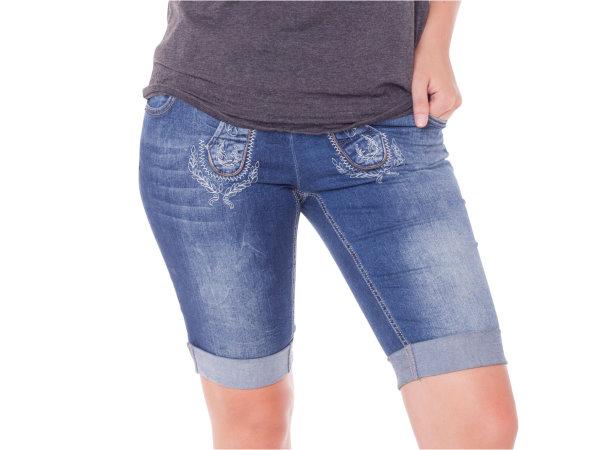 marjo jeans bermuda damen blau trachtenhose hose trachten. Black Bedroom Furniture Sets. Home Design Ideas