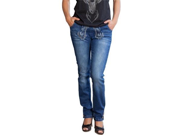 marjo jeans classic damen blau trachtenhose hose trachten trachtenjeans. Black Bedroom Furniture Sets. Home Design Ideas