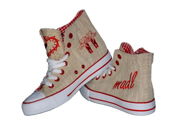 sneaker damen rot trachtenschuhe schuhe dirndlschuhe sneakers 4102 9 ebay. Black Bedroom Furniture Sets. Home Design Ideas