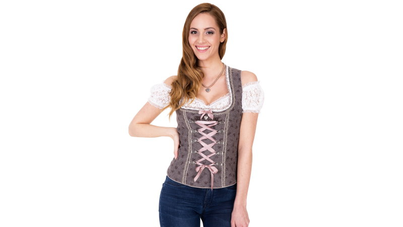 Ramona Lippert Trachtenbluse Bluse Mieder Marion rot Gr 34-46
