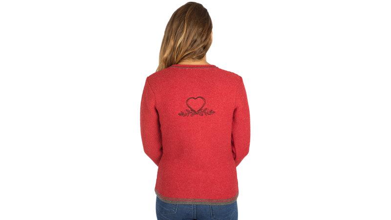 6a3210b144 Fuchs Trachten Damen Trachtenjacke rot blau Strickjacke bis Größe 46 ...
