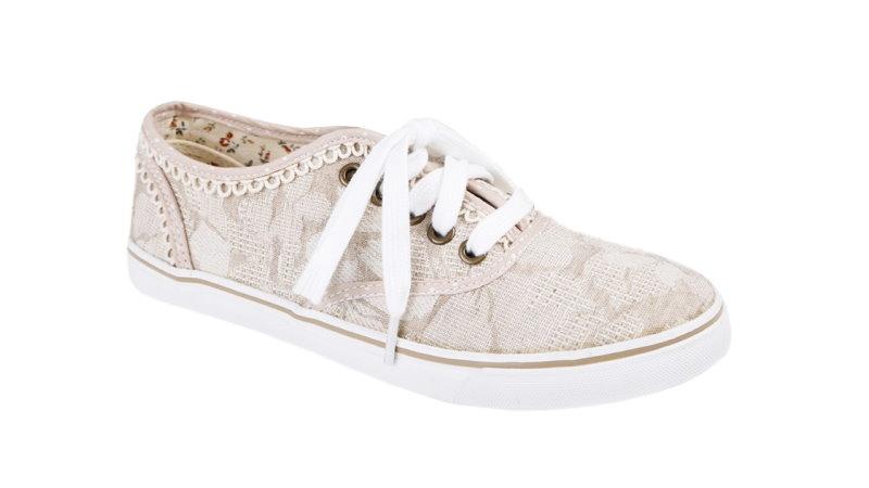 buy online 369eb f8c2a Details zu Krüger Sneaker Damen Romance natur Trachtensneaker 4431  Trachtenschuhe creme NEU