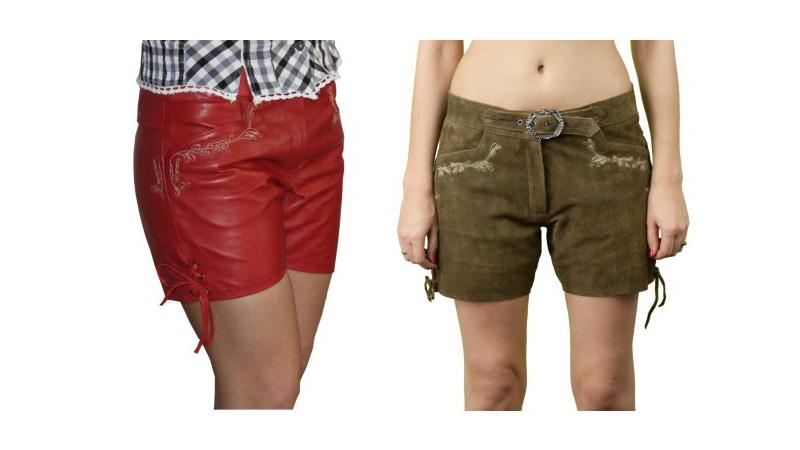 Online gehen Sportschuhe Ruf zuerst Details zu Damen Short Waldsee rot braun Lederhose kurz Hotpants hot pant  Hose Lekra 49048