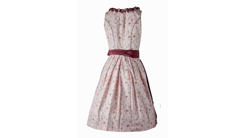 Fuchs Damen Dirndl 5707 60er Länge rose bordeaux Trachtenkleid Kleid Tracht NEU